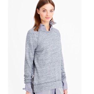 J CREW | Gray Side Zip Sweatshirt